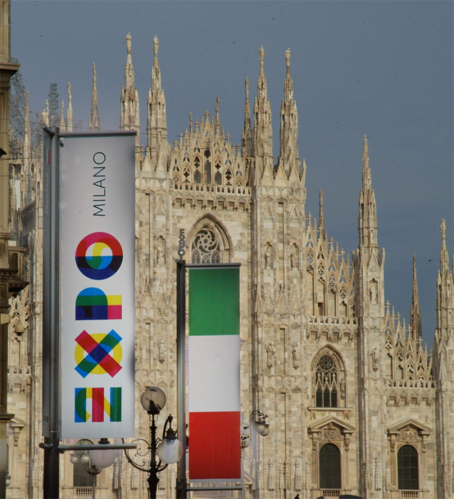 Best Stands Expo Milan : Exposing the expo italy presents logo for milan