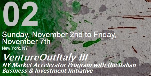 Great event for Italian Startups in NYC: VentureOutItaly III