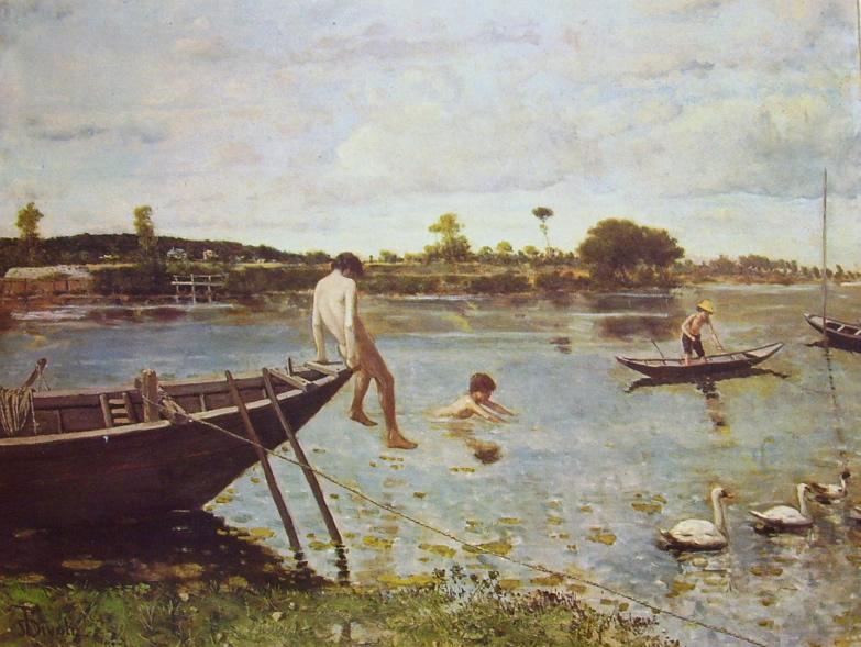 Serafino De Tivoli - La pescaia a Bougival