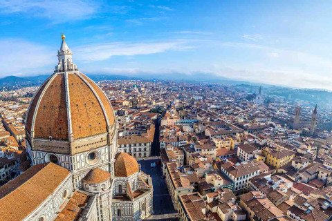The view on Florence from Duomo cathedral