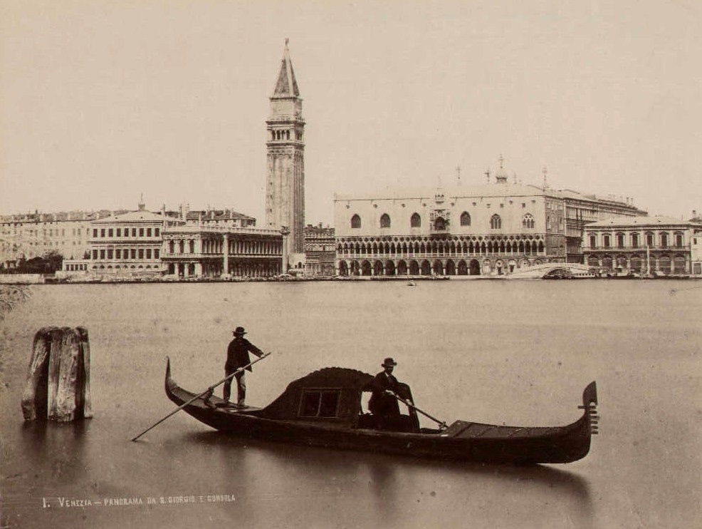 Old picture of a gondola