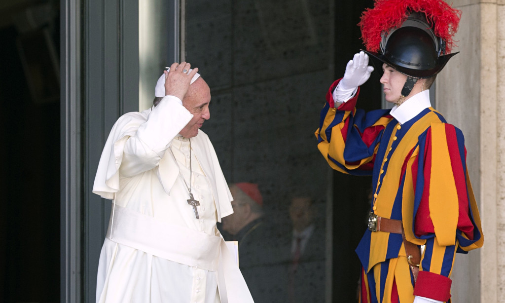 Swiss Guard and the Pope