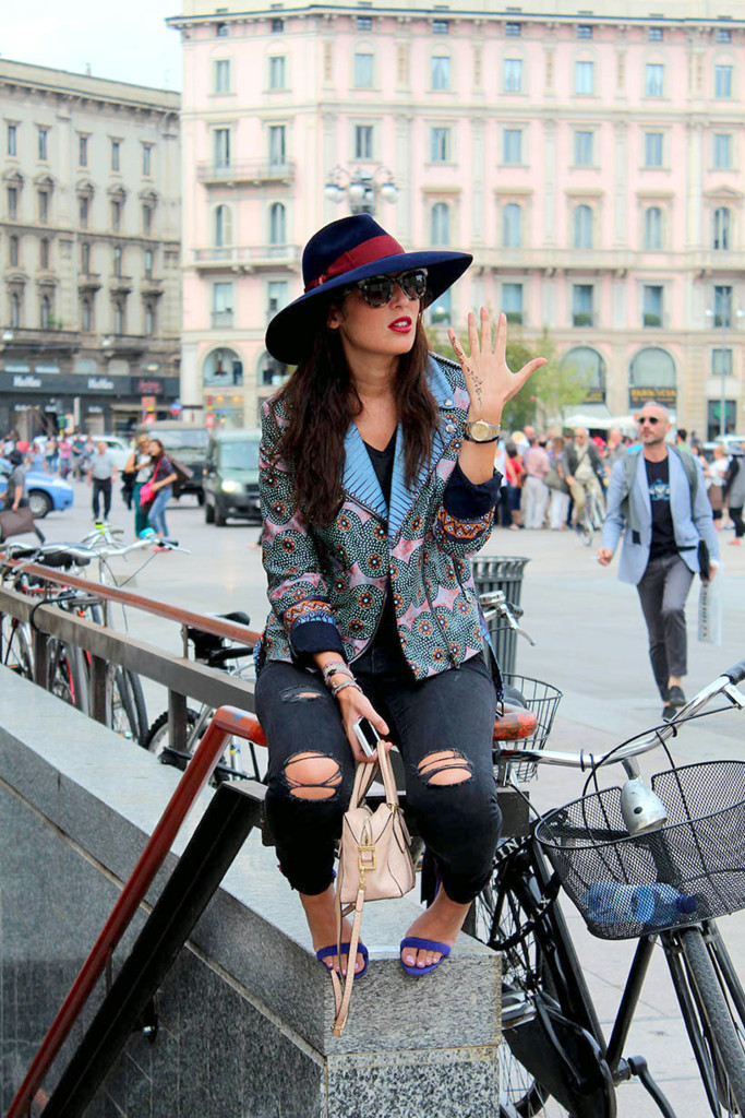 Street style during the Milan Fashion Week