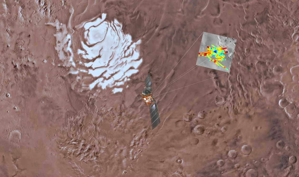 liquid water on mars by marsis